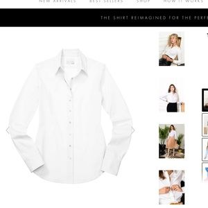 The Shirt Essential Icon White Button Shirt Blouse